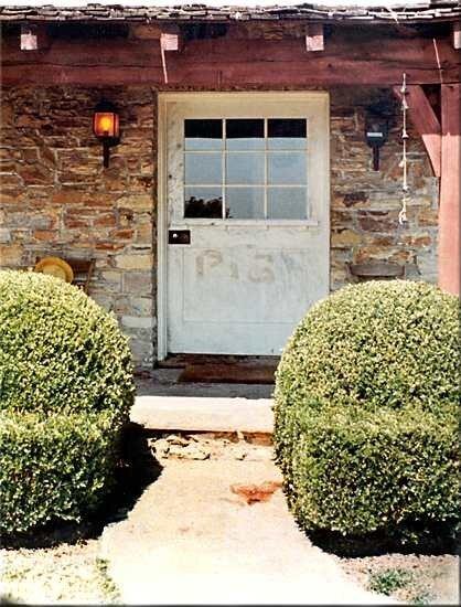 """Door as originally seen with """"pig,"""" written in blood."""