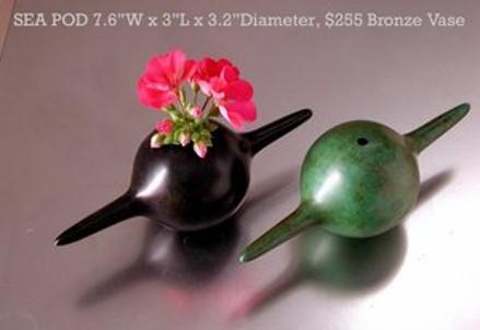 Sea Pod Bronze Vase $255