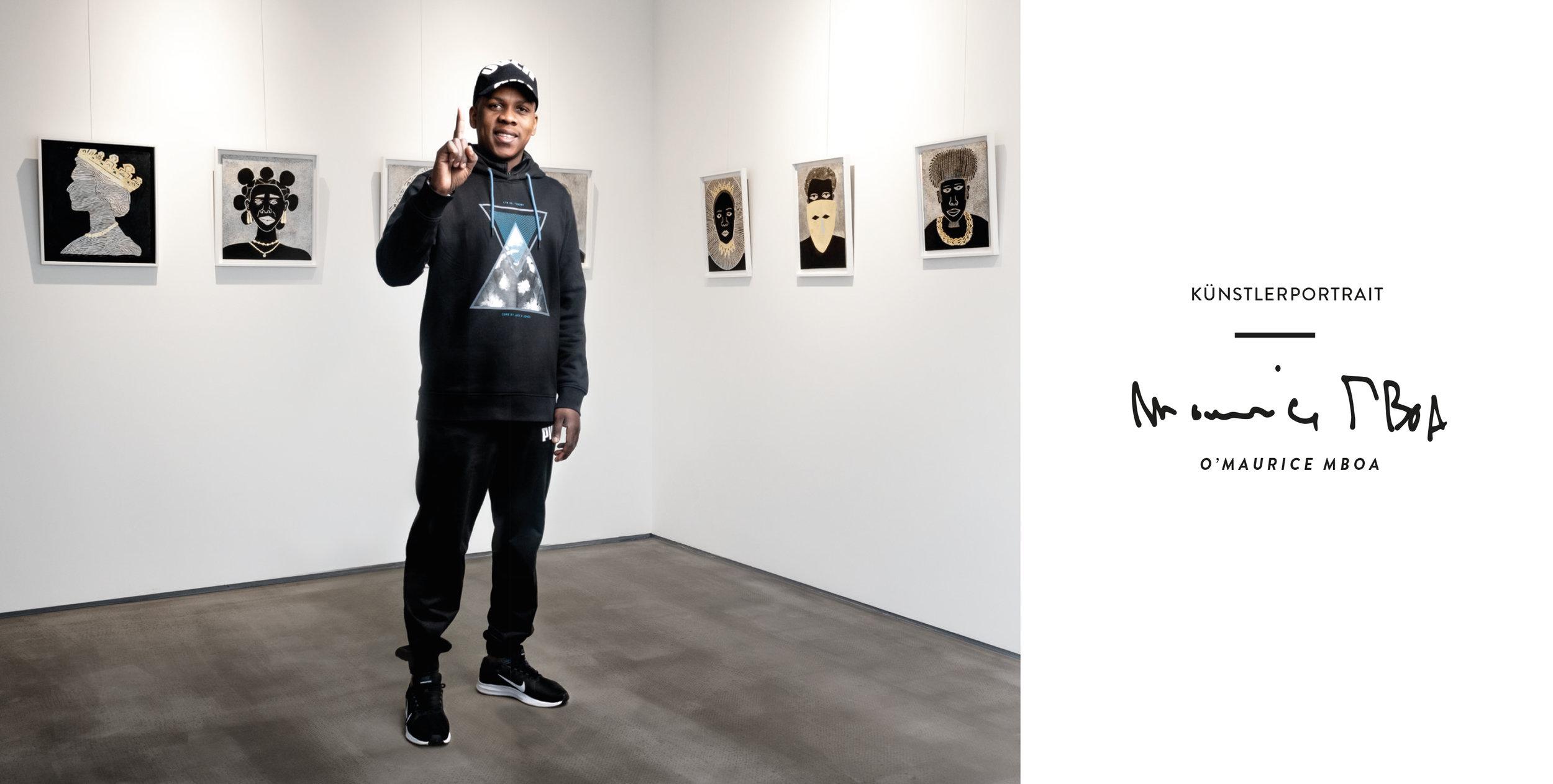 O'Maurice Mboa Künstlerportrait