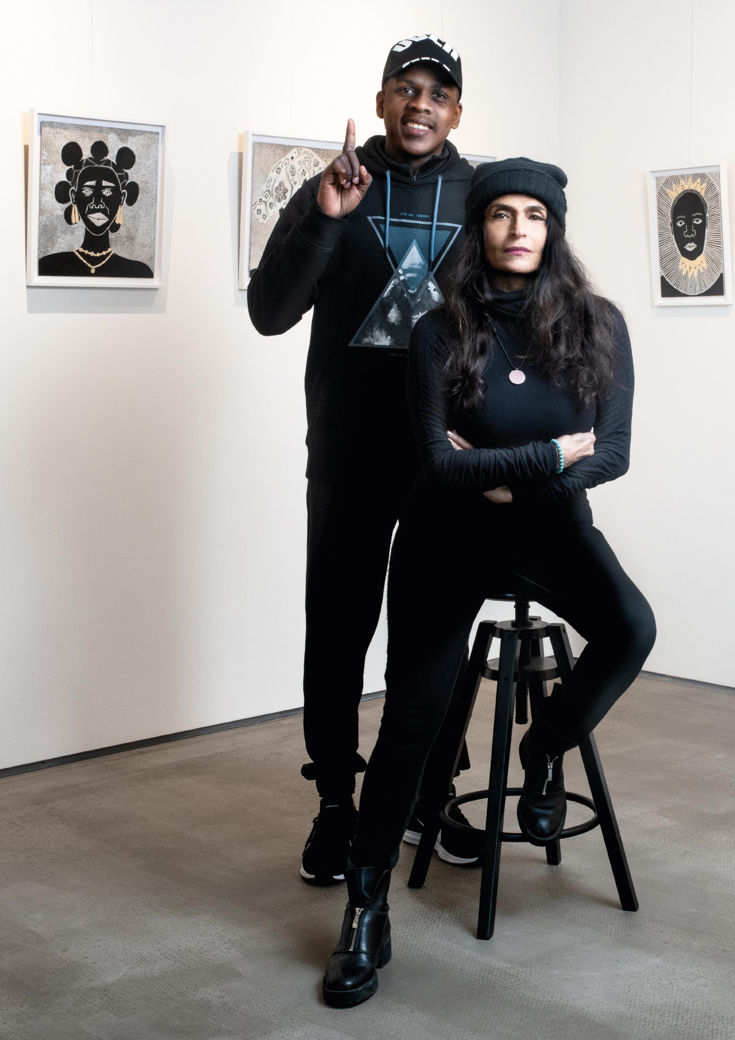 O'Maurice Mboa & Parissa de Montenach, März 2019