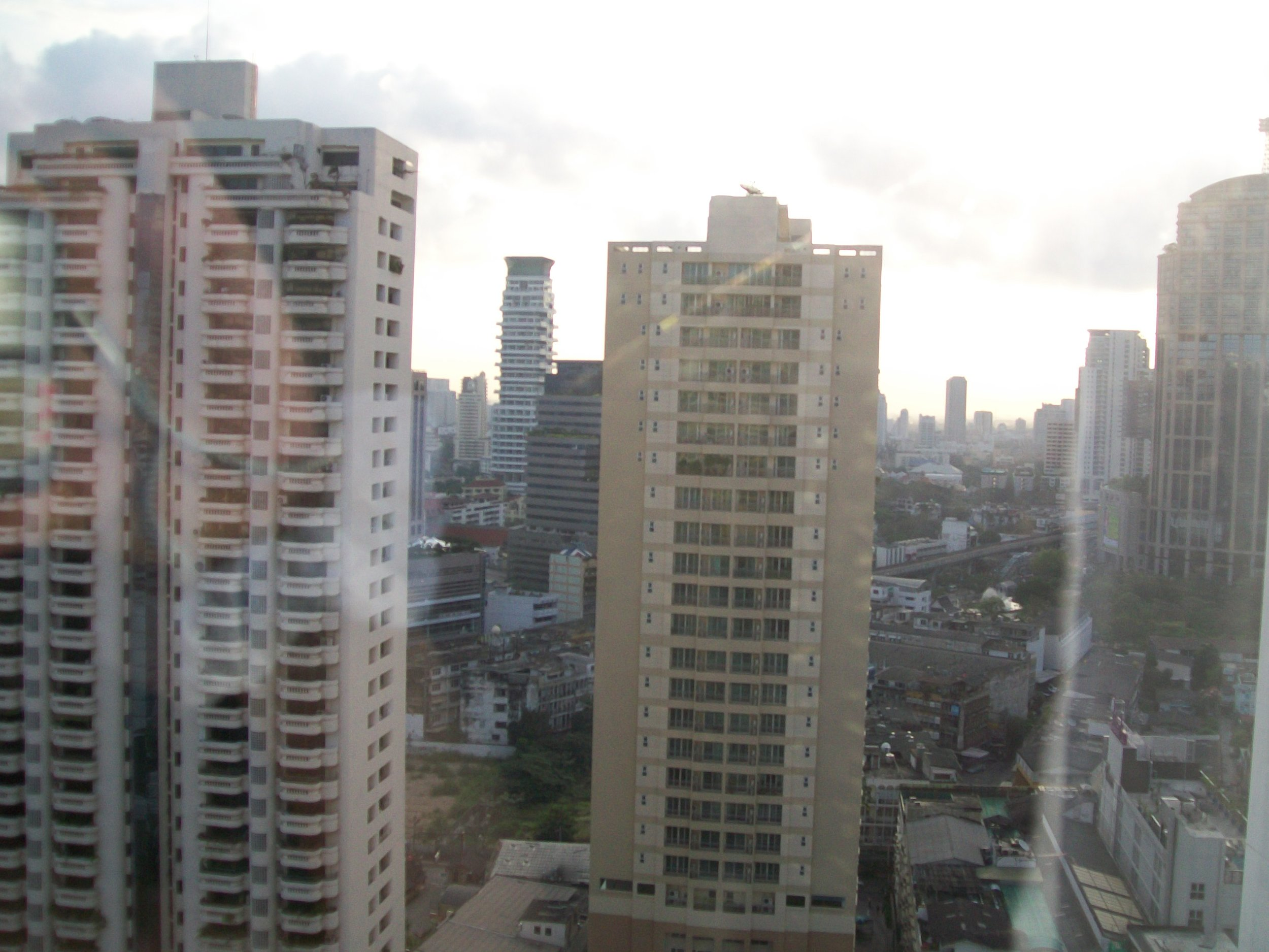 Out my window at the Rembrandt hotel in Bangkok.