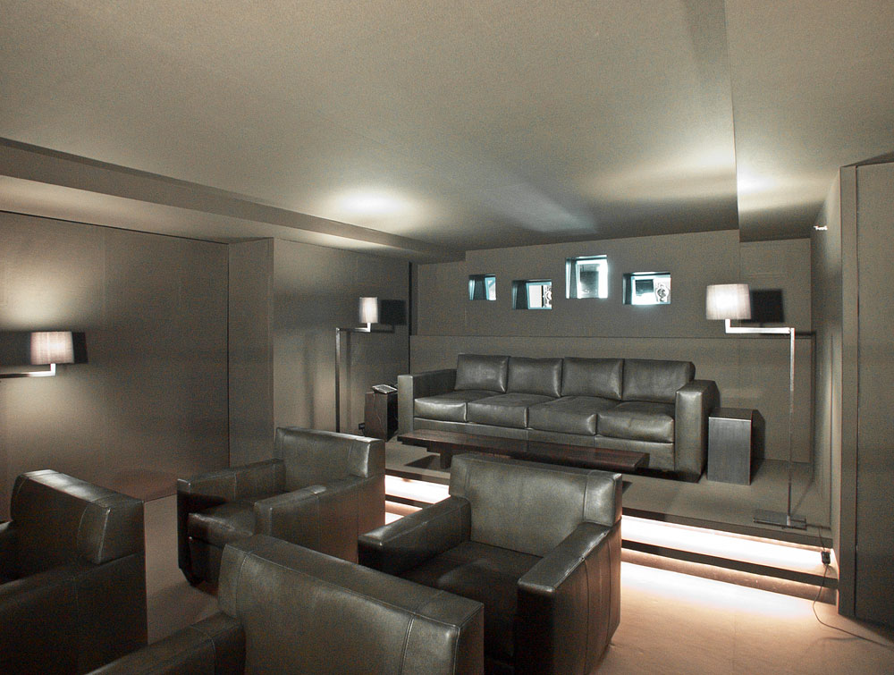 MEDIA ROOM - WALLS, CEILING AND FLOOR