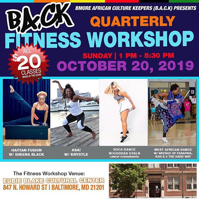 Join Fight Blight Bmore's founder Nneka Nnamdi for an afternoon of fitness and community building. Tickets available on Eventbrite see Bmore African Culture Keeper's......