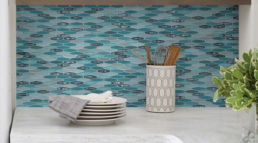 Glass Tile - Glass tiles are a great choice for creating unique and colorful designs. They can be combined with other materials to create interesting accents and variety of different looks. They can be used in backsplashes, showers or even floors.
