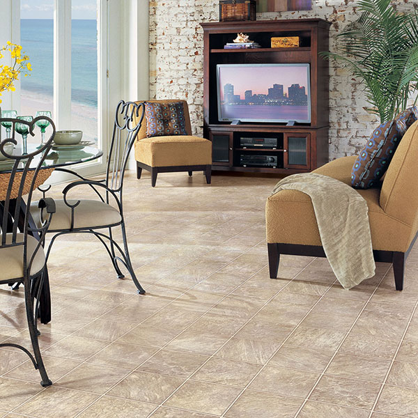 Sheet Vinyl - Sheet Vinyl Flooring is one of your most cost-effective options in flooring and offers great durability for high traffic areas such as bathrooms, laundry rooms, kitchens and mudrooms. Plus, vinyl floors are available in a huge variety of patterns and colors.