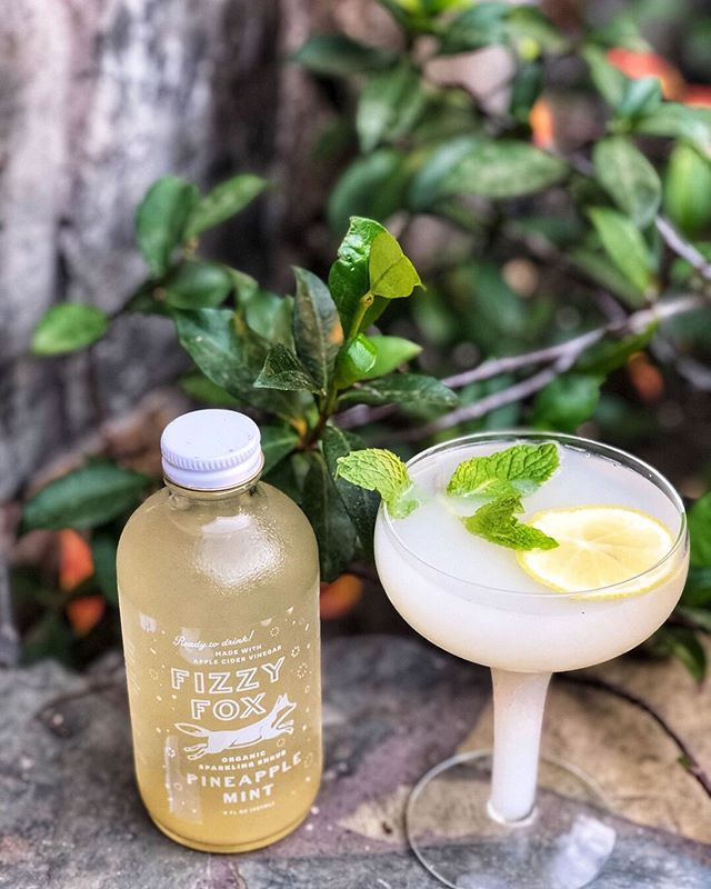 Calpico Pineapple Fizz 🍍: ⠀⠀⠀⠀⠀⠀⠀⠀⠀ 2 oz Calpico 2 oz Fizzy Fox Pineapple Mint Pour in Calpico and finish with Fizzy Fox Pineapple Mint. Garnish with mint and lemon round. ⠀⠀⠀⠀⠀⠀⠀⠀⠀ #fizzyfox #fizzyfoxrecipes #sparklingshrub