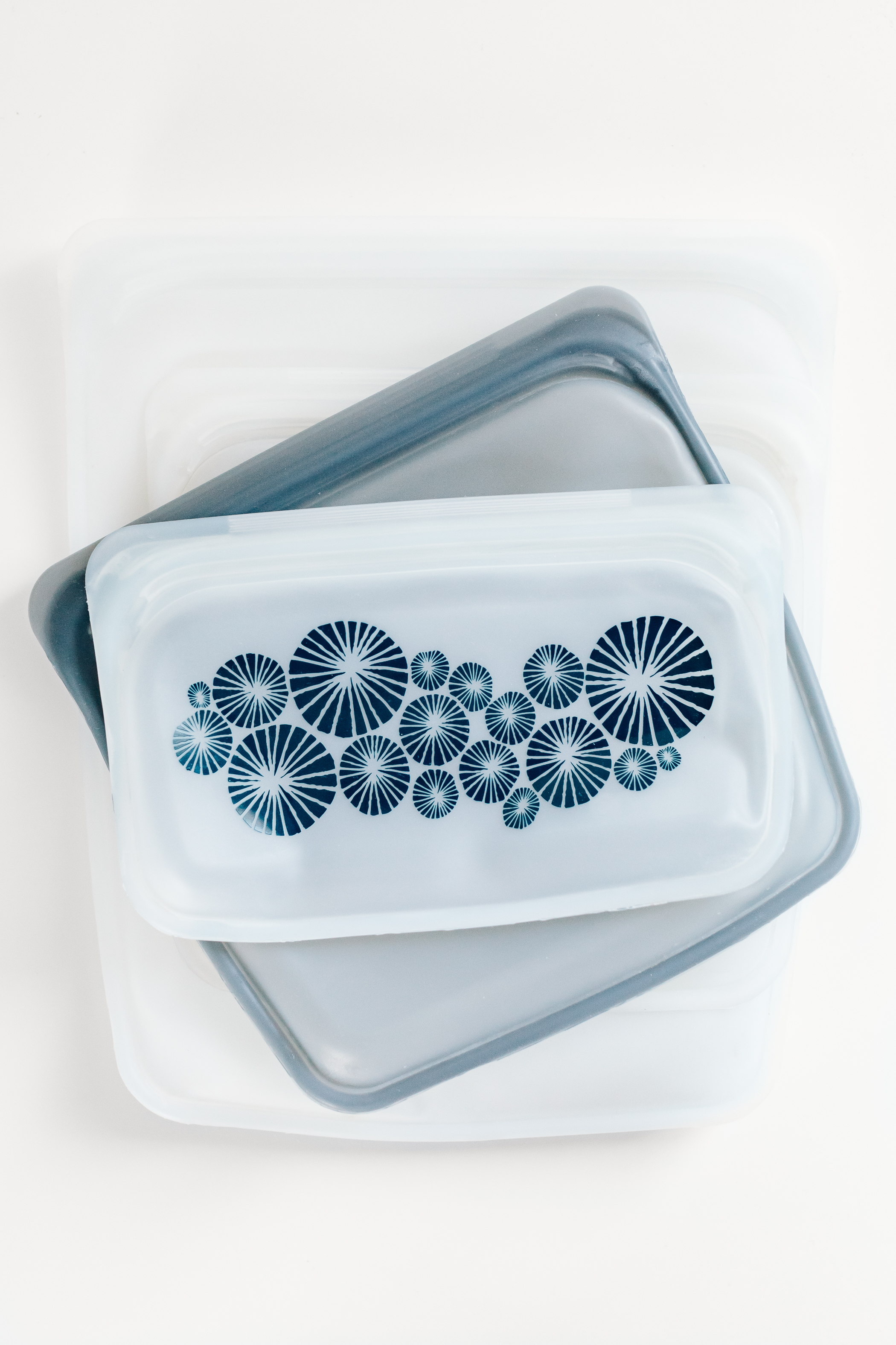 Stasher Bags - These silicone bags are great replacements for plastic baggies. We use them for all types of food and they are great for traveling as well. Freezer safe and really high quality.The large half gallon bags are great for frozen fruits and veggies, the medium bags for sandwiches, and small bags for snacks and avocado halves. (Amongst so many other things.)I order mine from Amazon.