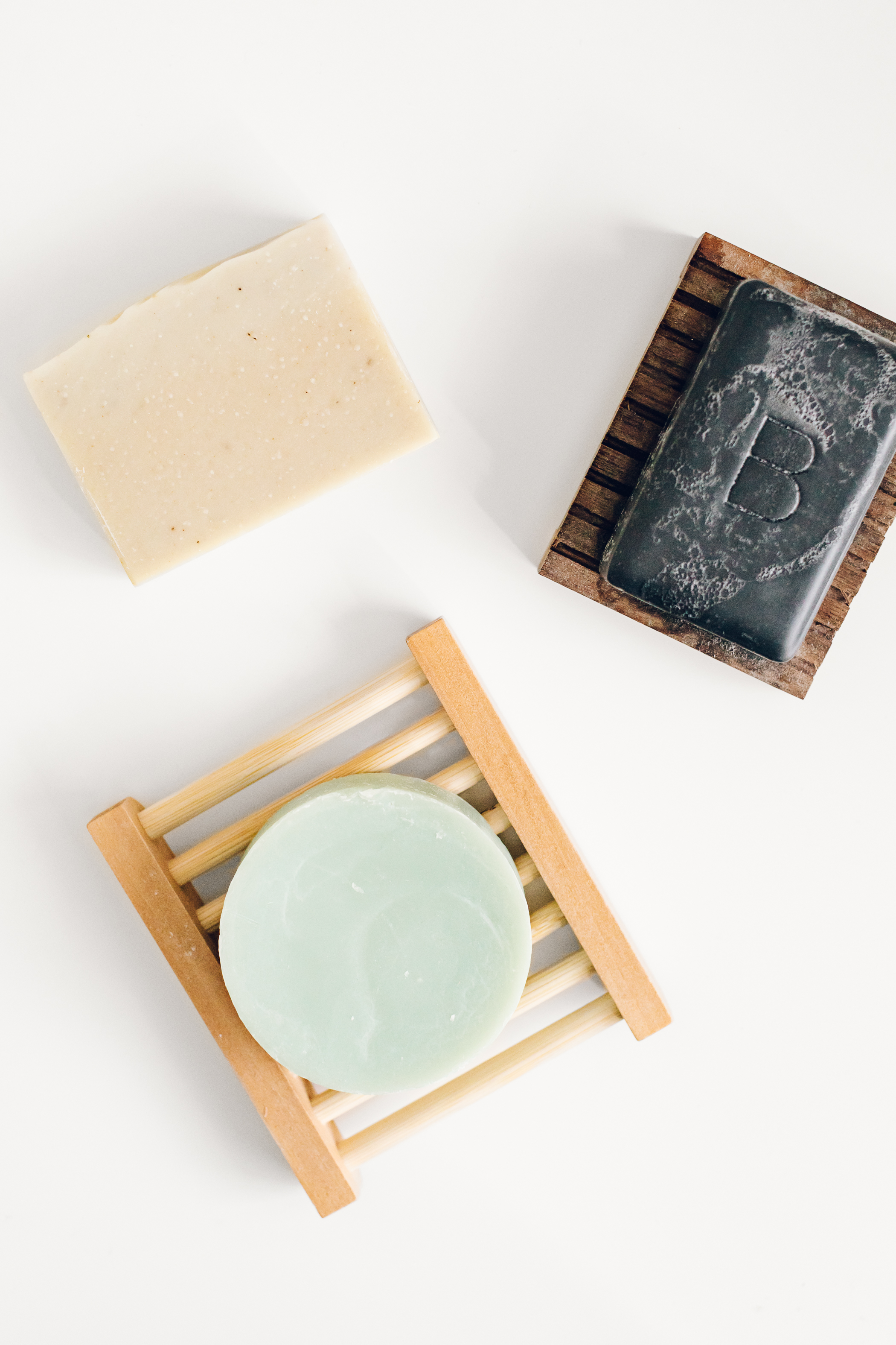 Bar Soap - We replaced our bottles of hand soap, face wash, and body wash with bar soap. This was such a simple swap to do! When the soap is gone, it just disappears, no contribution to the landfill necessary.Bar soap typically comes with little to no packaging - but make sure to look for bars that are not wrapped in plastic.We use hand and body soaps from our local market, and Beauty Counter's charcoal bar soap for our faces.