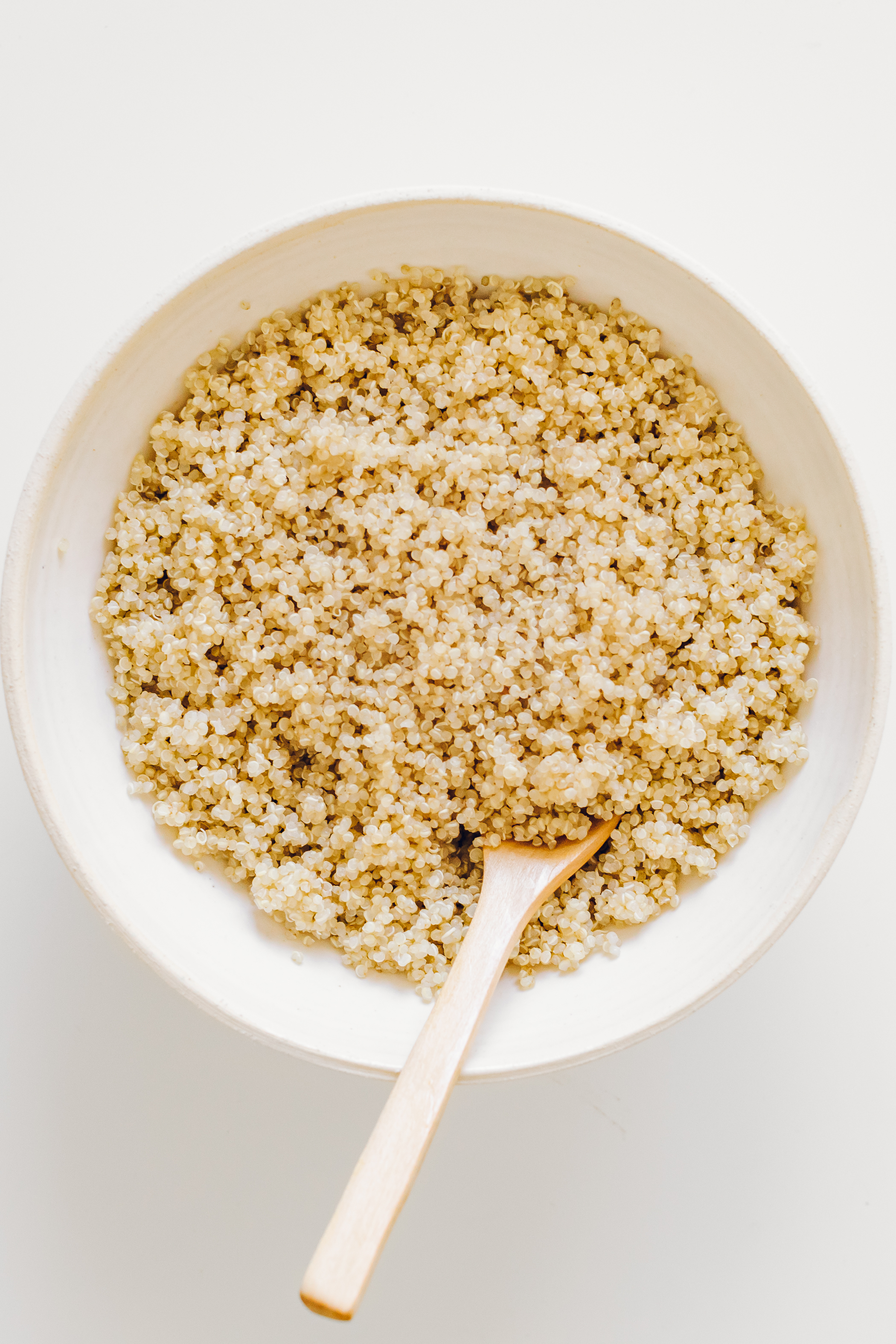 Quinoa - 1. Cover 1 cup of quinoa in a bowl with a few cups of water and a teaspoon of apple cider vinegar. Let soak for 12 hours.2. Rinse quinoa well, and place in a pot with 1 cup of fresh water.3. Bring to a boil, reduce to a low simmer, cover, and let cook until all of the water is absorbed. Usually between 15 to 18 minutes.4. When you lift the lid an inch and no longer hear any water sizzling, place the lid back on the pot and set aside to steam for at least15 minutes.5. Fluff with a fork, serve, and store cooled leftovers in an airtight container in the fridge. Enjoy within one week.Quinoa to water ratio for cooking is 1:1