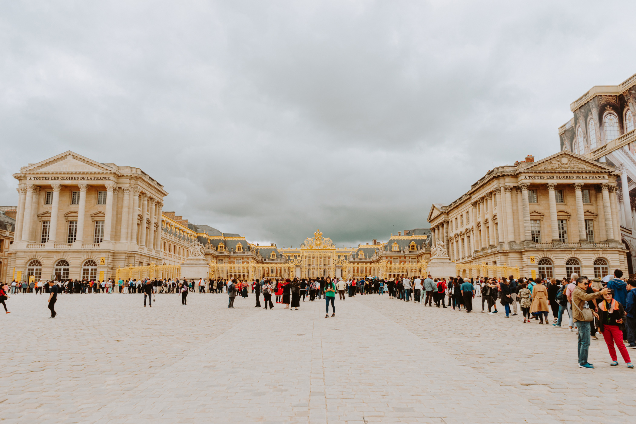 Versailles - it was packed! But really surreal that we stood here.