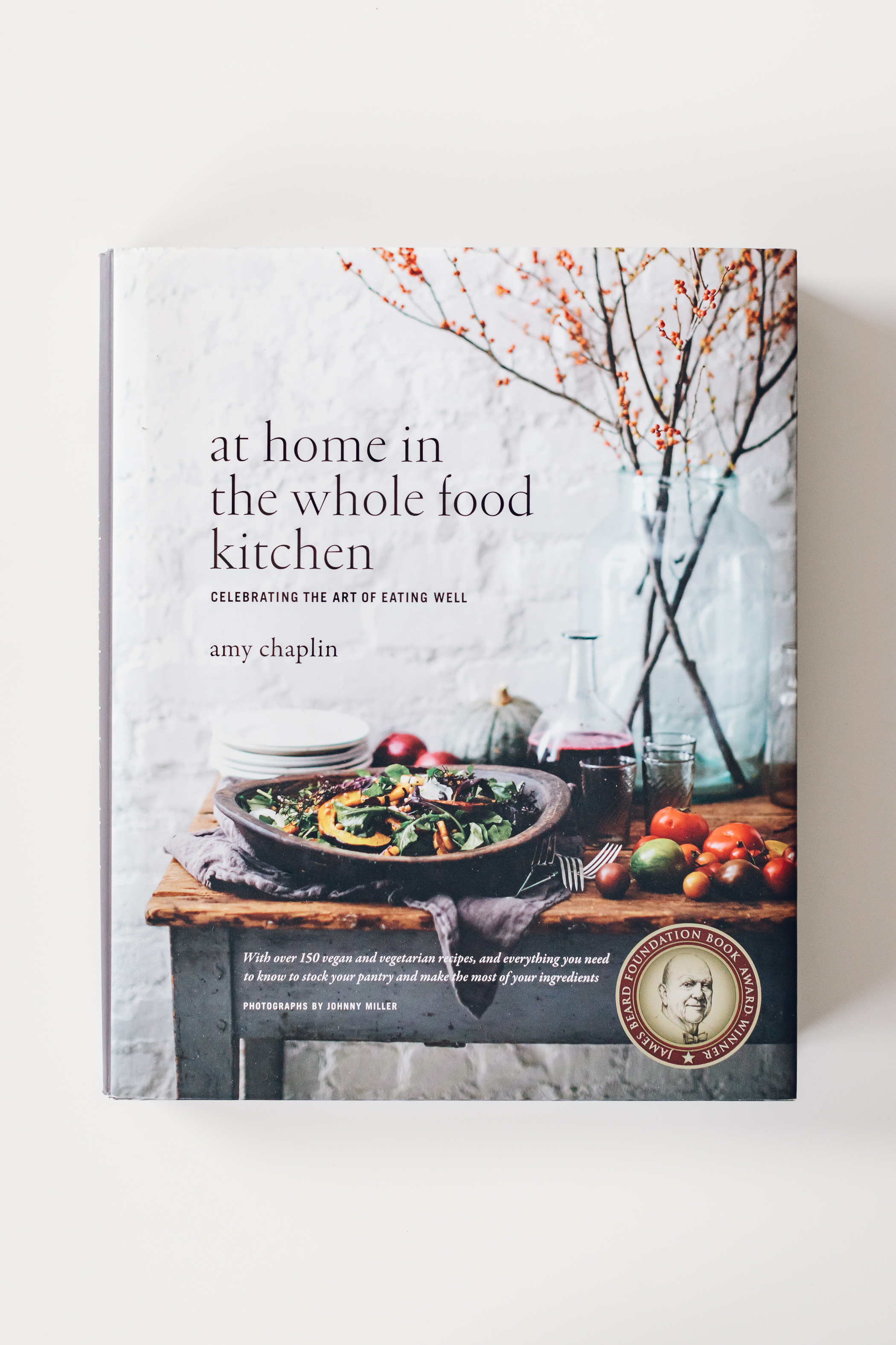 At Home in The Whole Food Kitchen - It was Christmas 2014 when I opened this book as a present from Scott. I'm pretty sure this has been my favorite, and most used, gift he has ever given me! I still thank him to this day :).It was in this cookbook where Amy taught me how to soak and cook beans and grains, how to grow my own sprouts, the ways in which to stock a pantry and fridge, how to make a proper chia pudding, and a simple approach to balanced flavors.She does have more complex recipes too for days when you just want to cook. These are wonderful for us on special occasions and will truly blow your mind. Her tarts are dazzling!However, it is the simple everyday recipes like this peach chia shake that bring me to crack open its pages over and over again. If you enjoy cooking with whole foods, this cookbook is one to own—if you don't already (which you probably do).Thank you for sharing your endless knowledge and skills with us Amy, cannot wait for book number two! (Coming this September.)Order At Home in the Whole Food Kitchen here.