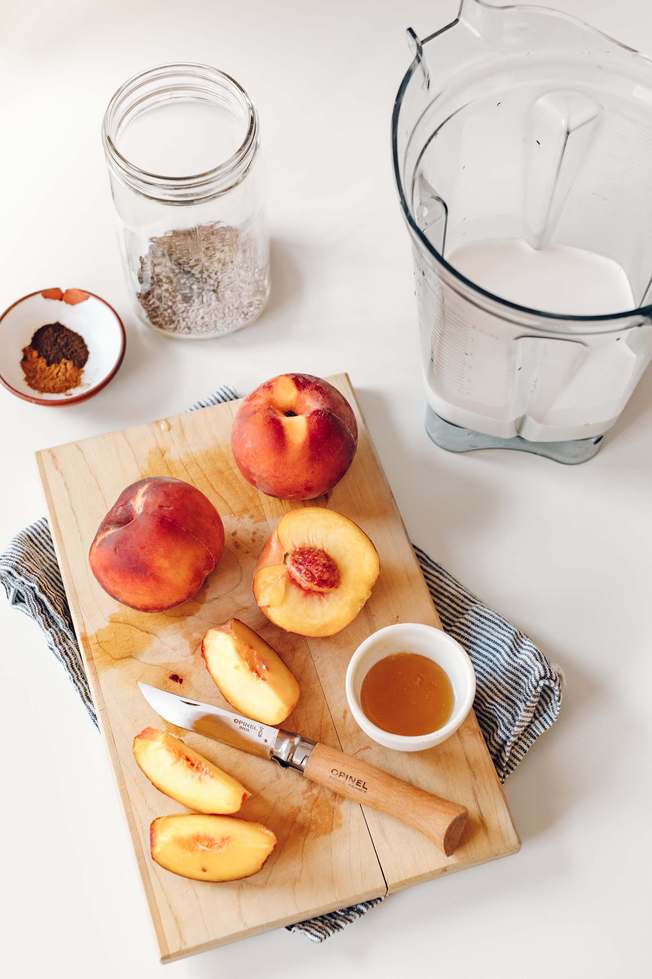 Peach Chia Breakfast Shake by Jessie May from At Home in the Whole Food Kitchen