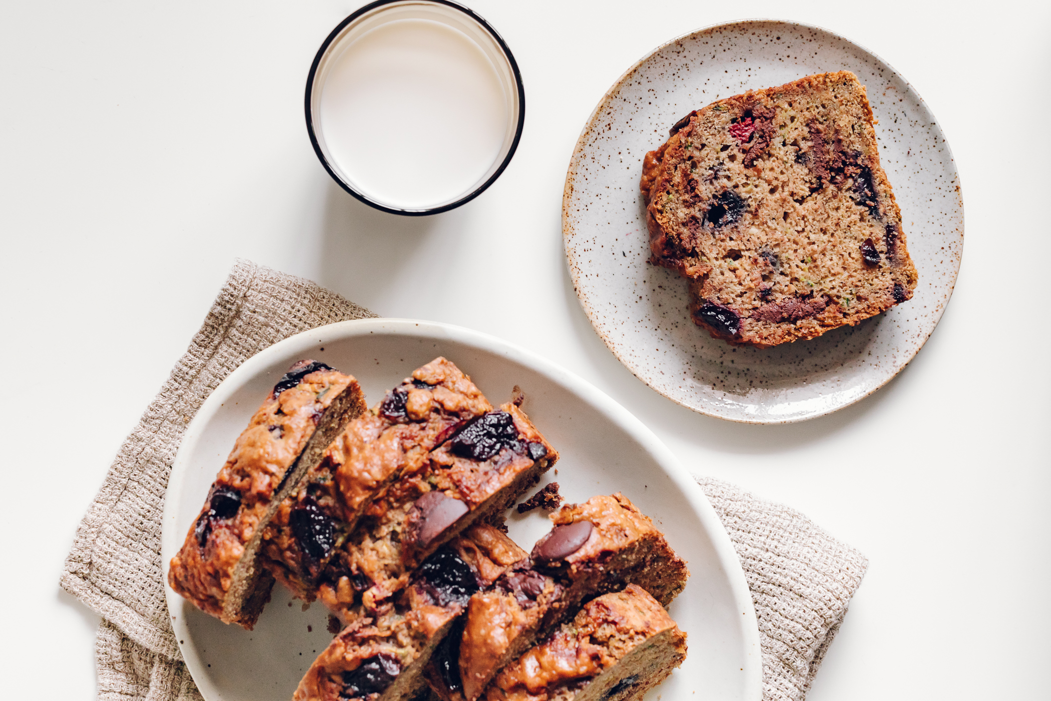 Cherry Chocolate & Hazelnut Zucchini Bread by Jessie May