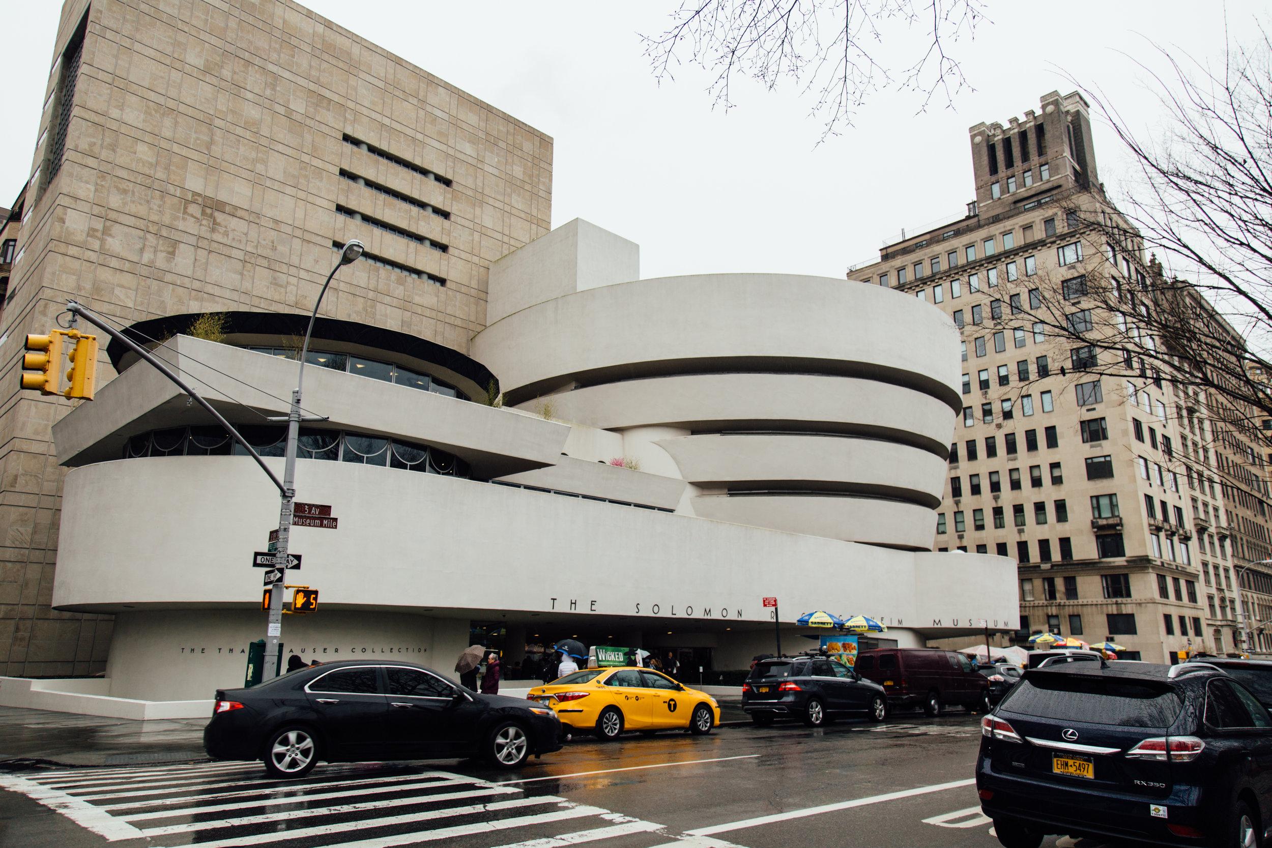 Solomon R. Guggenheim Museum designed by Frank Lloyd Wright.