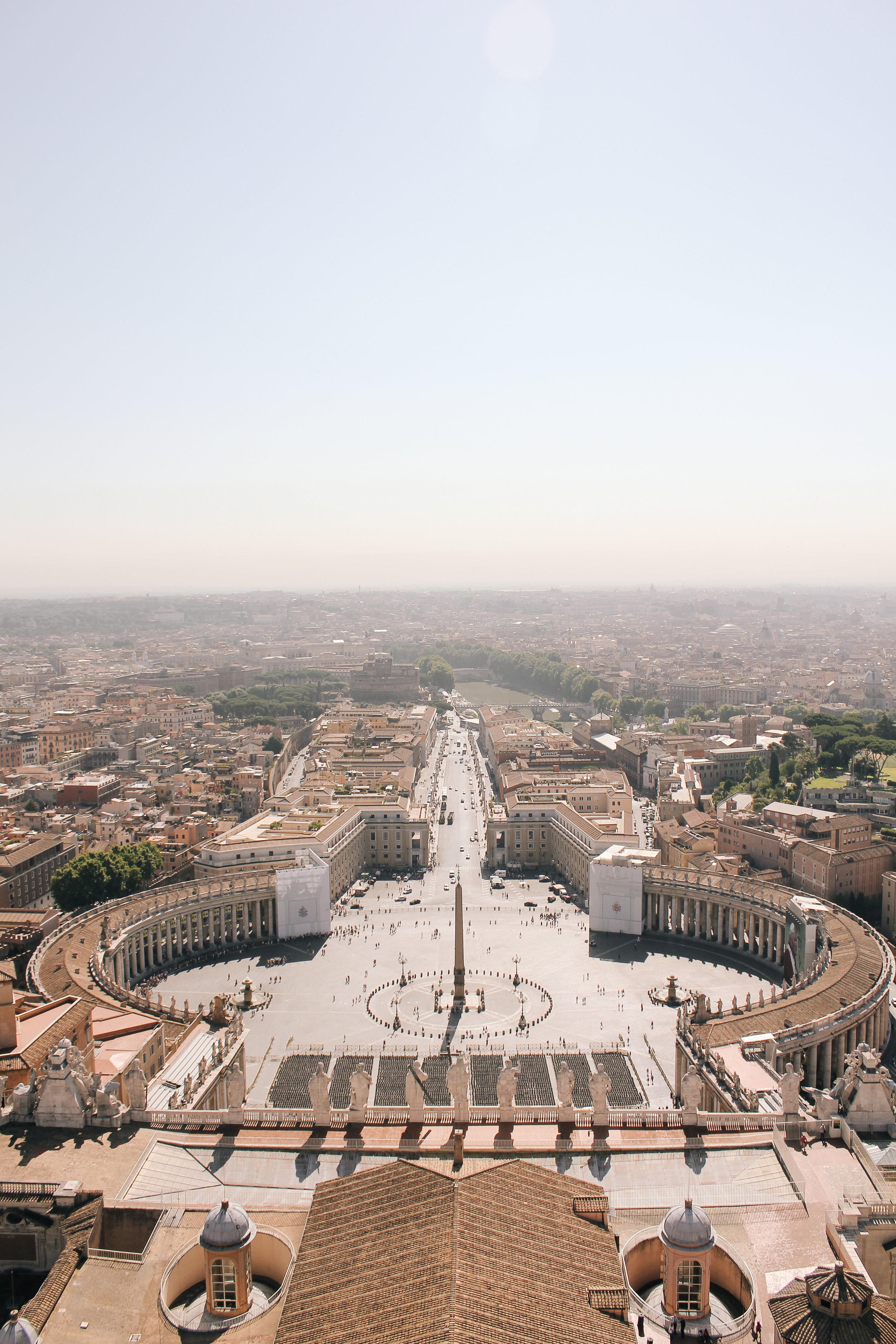 View of Rome from the Dome of St. Peter's Basilica