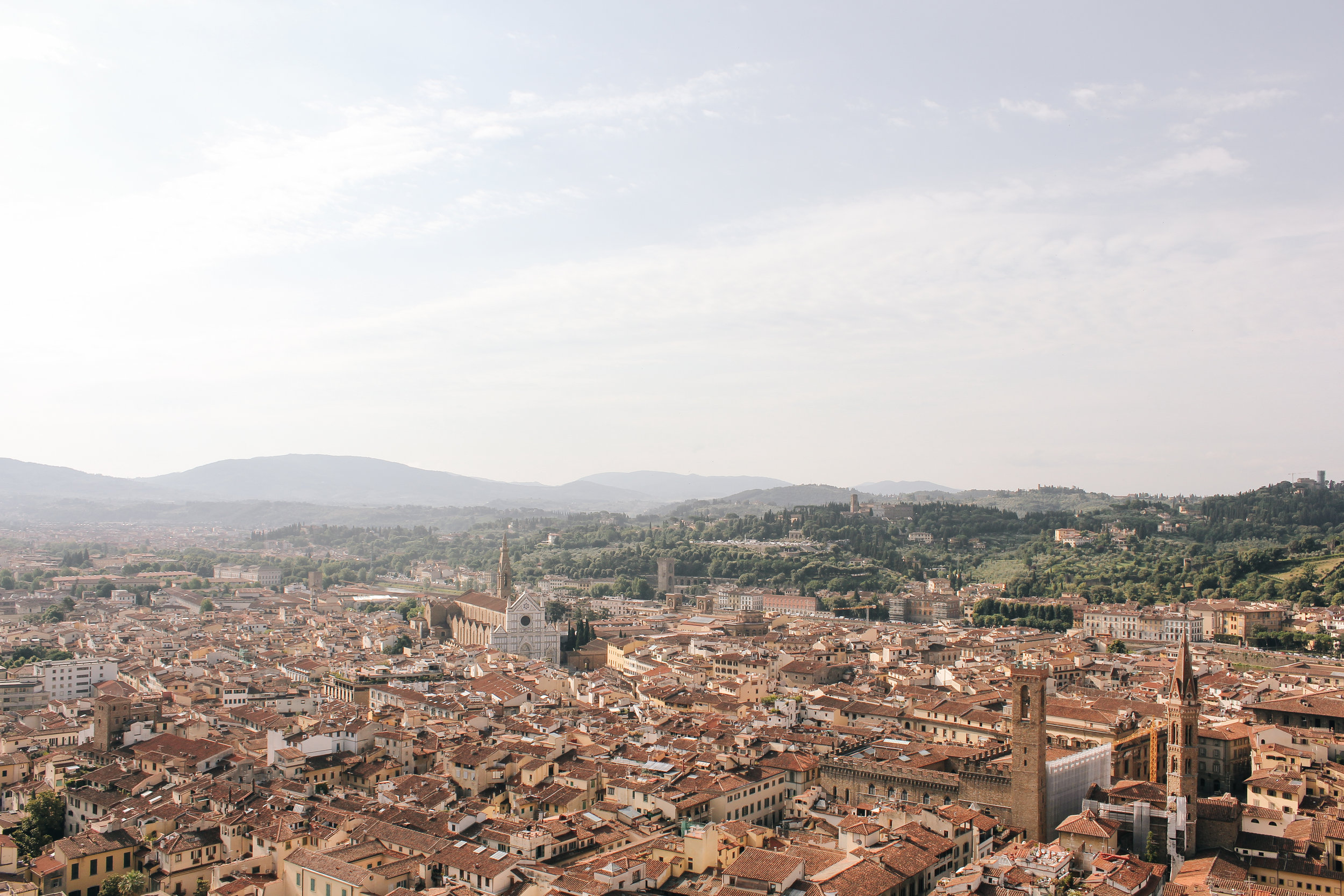 Florence viewed from on top of Duomo di Firenze