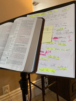 Every week we gather on Thursday Nights and Study the bible verse by verse in San Clemente!