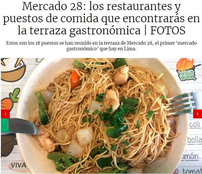 Mercado 28: los restaurantes y puestos de comida que encontrarás en la terraza gastronómica - El Comercio