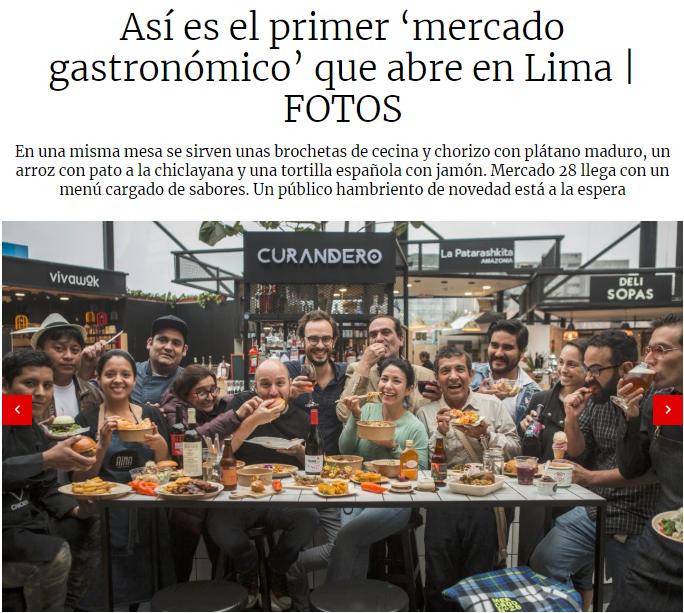 Así es el primer 'mercado gastronómico' que abre en Lima - El Comercio