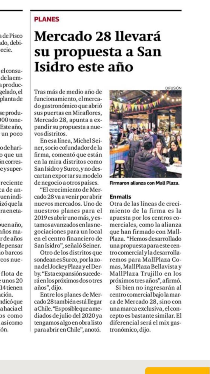 Mercado 28 llevará su propuesta a San Isidro este año - Diario Gestión