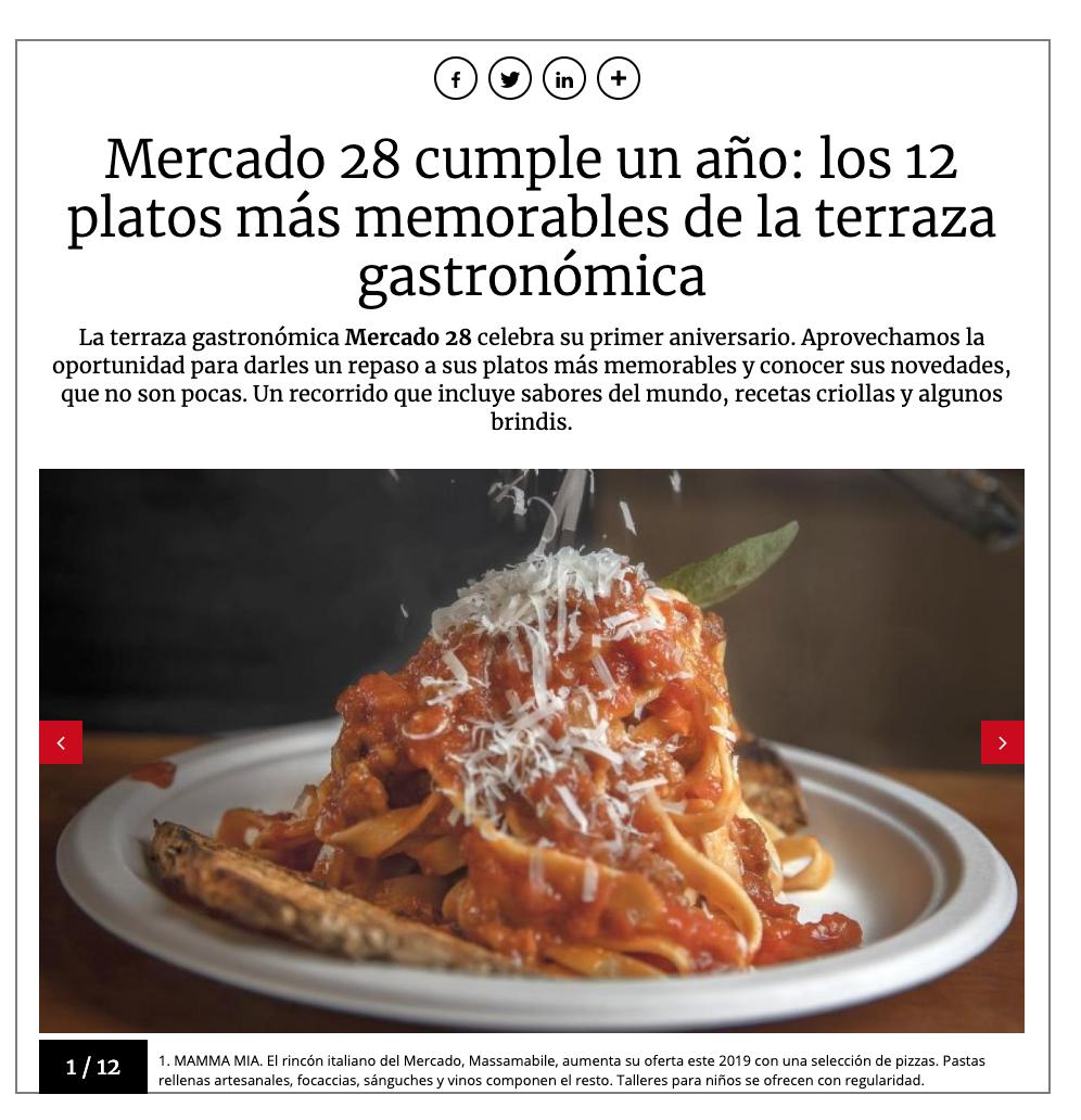 Mercado 28 cumple un año: los 12 platos más memorables de la terraza gastronómica