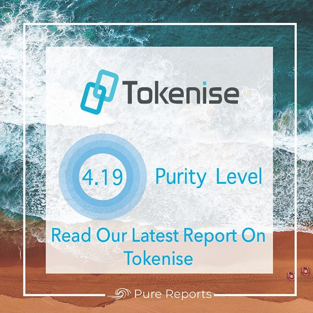 Pure Reports is pleased to announce its latest report on Tokenise. You can read it on our website @ purereports.io ____________________________ #eth #btc #crypto #bitcoin #cryptocurrencies #blockchain #instacrypto #instadaily #ripple #markets #finance #cryptocurrency #ethereum #xrp #tokensale #sto