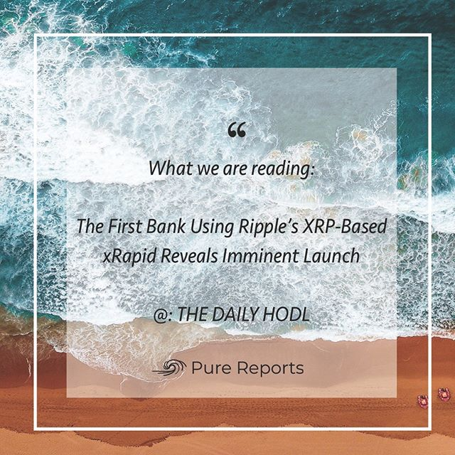 What Pure is reading today 😎 @thedailyhodl (http://bit.ly/2AKdvND)  ______________________________________________  #eth #btc #crypto #bitcoin #cryptocurrencies #blockchain #instacrypto #instadaily #ripple #markets #finance #cryptocurrency #ethereum #xrp #tokensale #sto