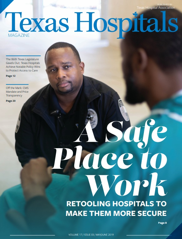 Texas Hospitals - Elizabeth's photography was also featured in the May / June 2019 issue of Texas Hospitals, the magazine of the Texas Hospital Association. Click on the magazine cover to read the issue.(Images taken by Elizabeth are featured on the cover and pages 8-10.)