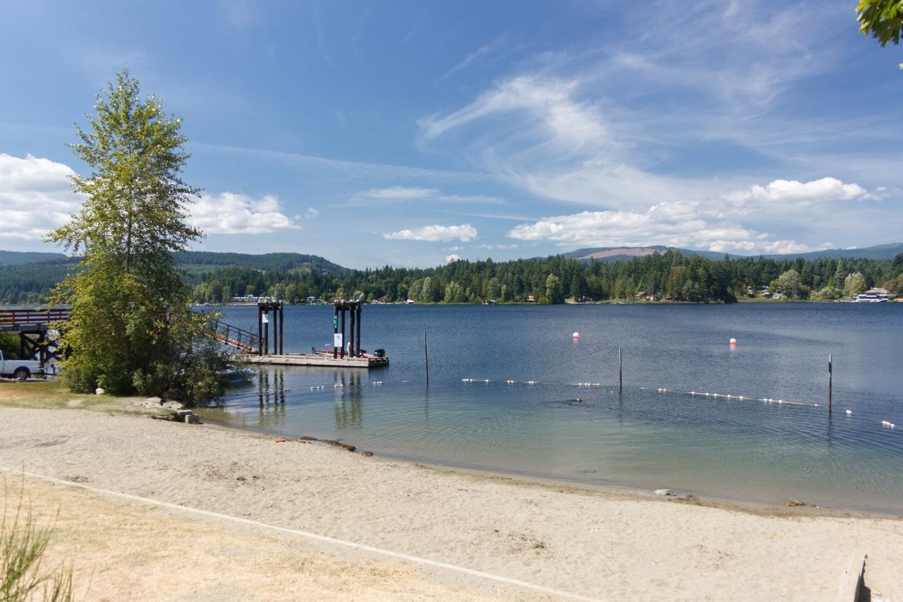 SHAWNIGAN LAKE  This community offers more than just the lake. There are miles of wilderness trails to explore, including one of the largest wooden train bridges in the world, the Kinsol Trestle.