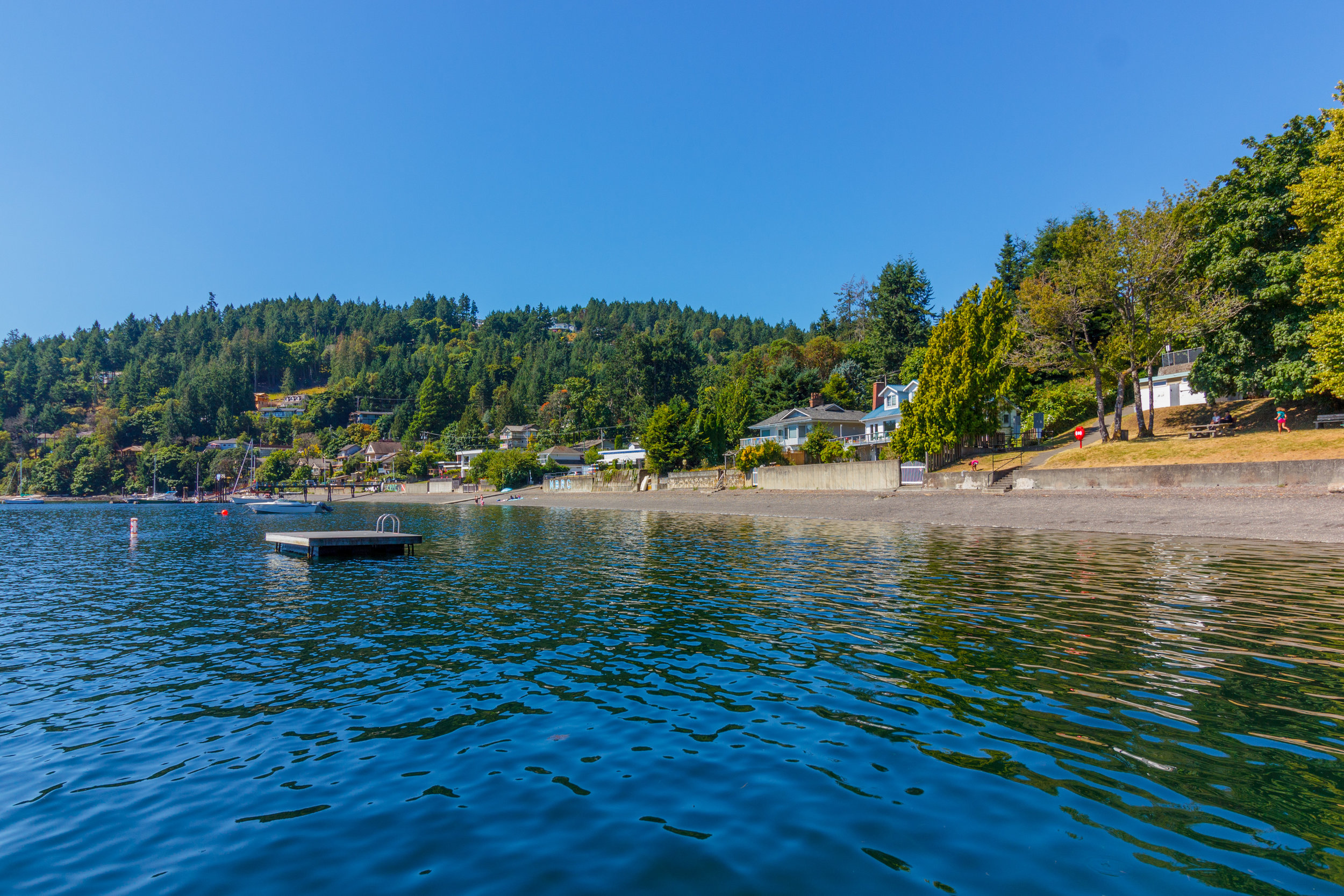 MAPLE BAY  In Maple Bay you can hop on a float plane or sail away on a yacht. Enjoy kayaking, swimming or boating, beautiful sunrises and epic hikes with channel views.