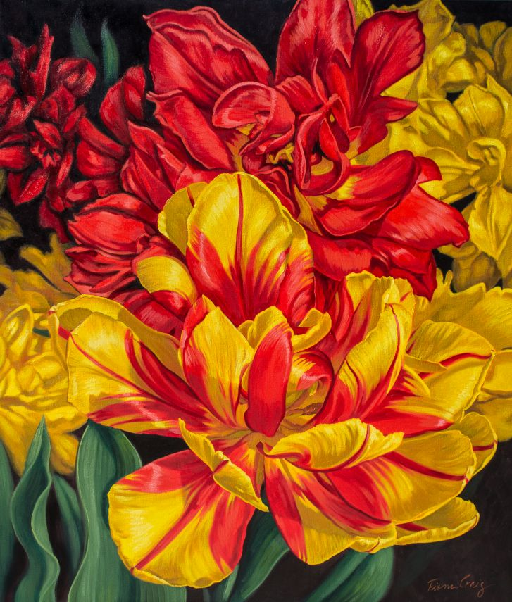 Tulipomania: Red and Yellow