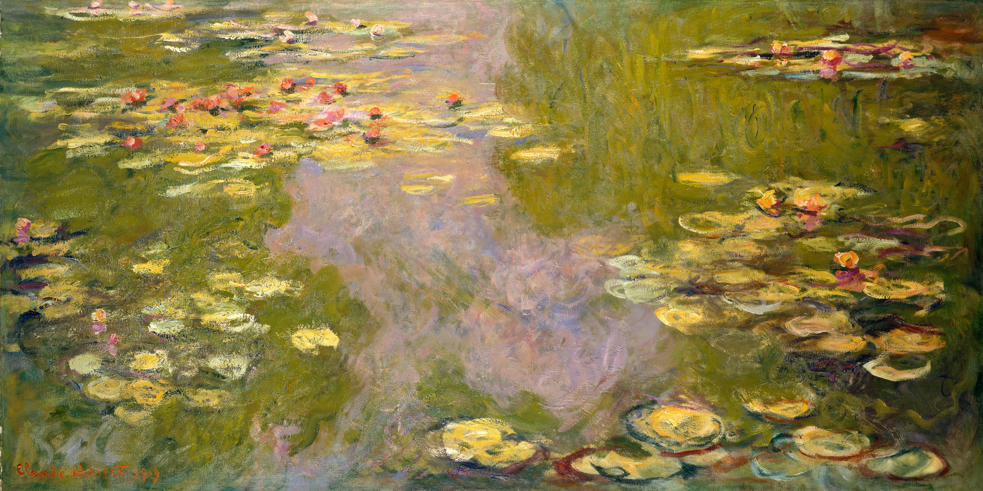 One of around 250 paintings from Calude Monet's extensive  Water Lilies  seties.
