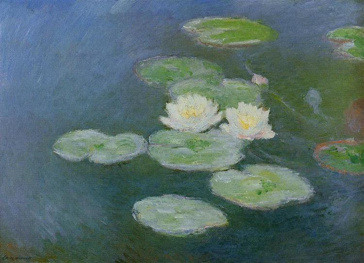 Water Lilies, Evening Effect , Claude Monet.