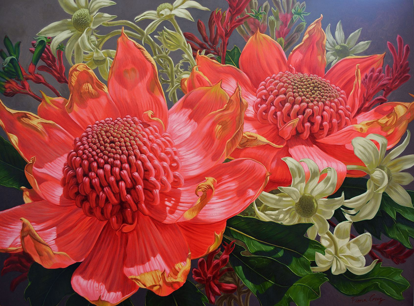 Waratahs and Flannel Flowers, 2