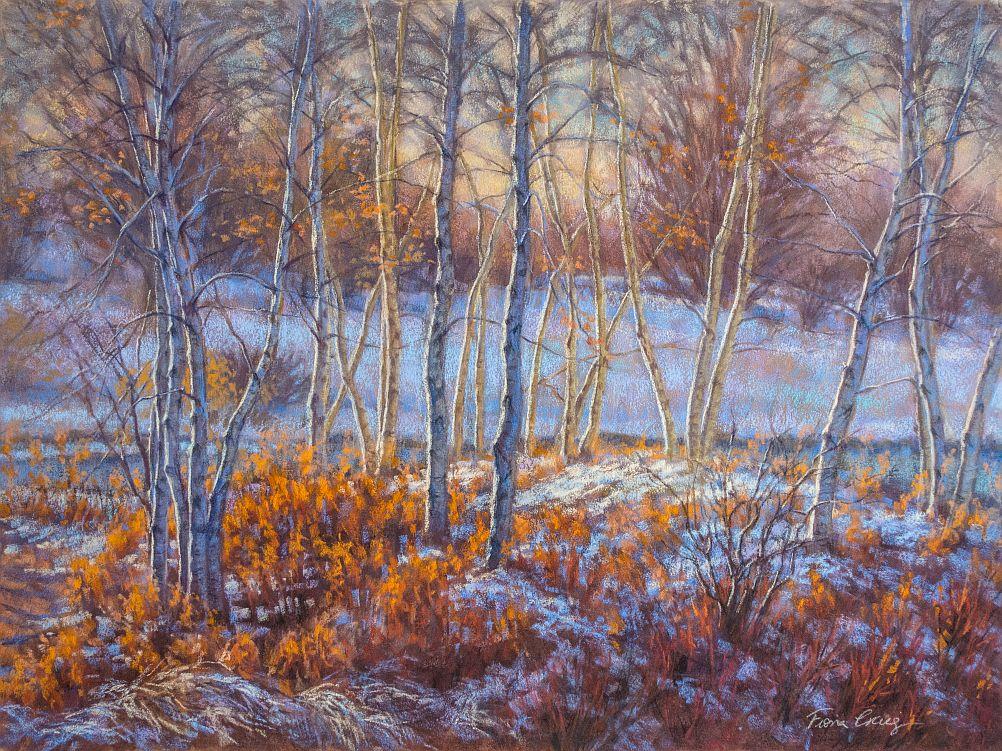 Birches in First Snow, 1