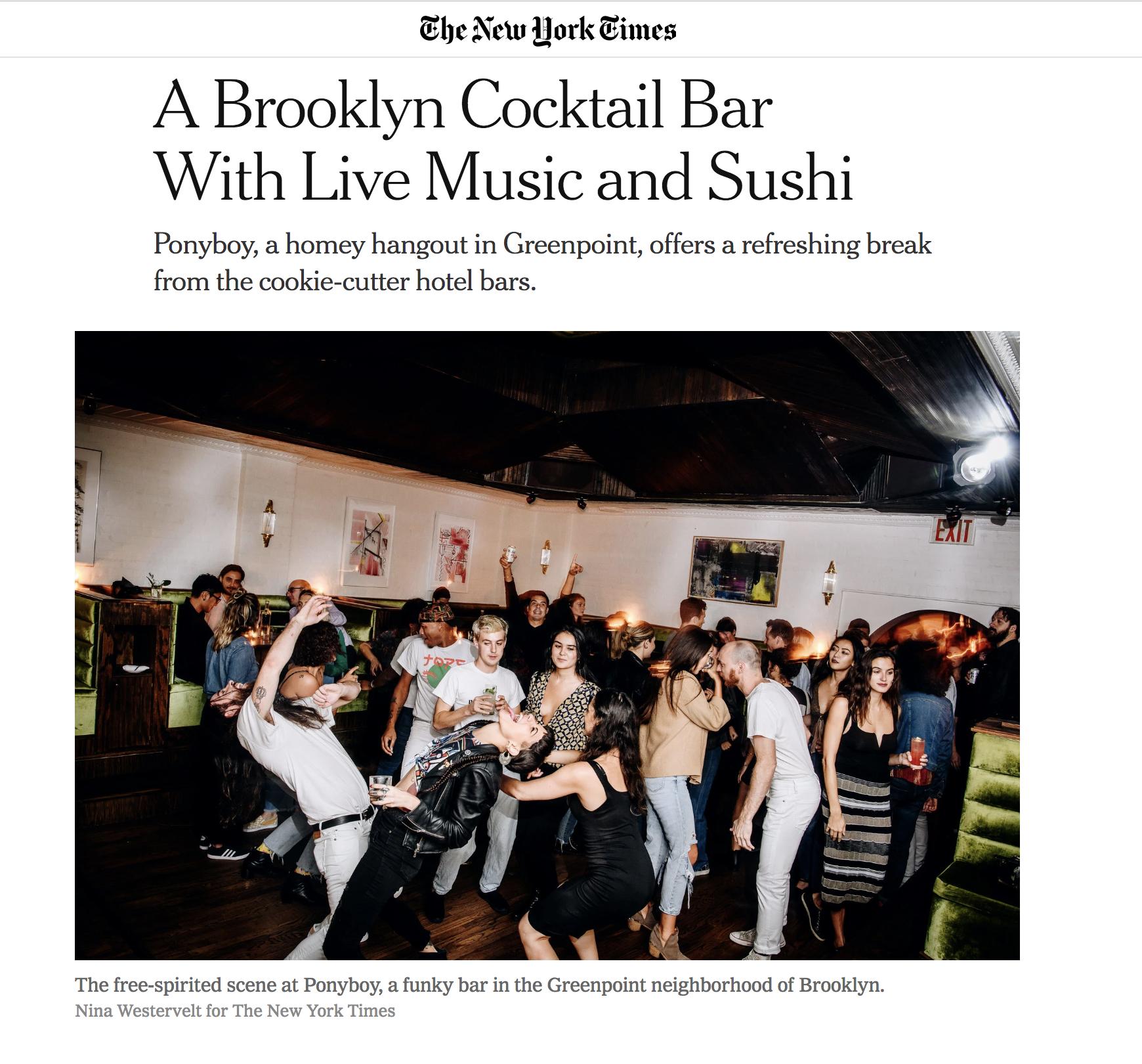 New York Times Ponyboy