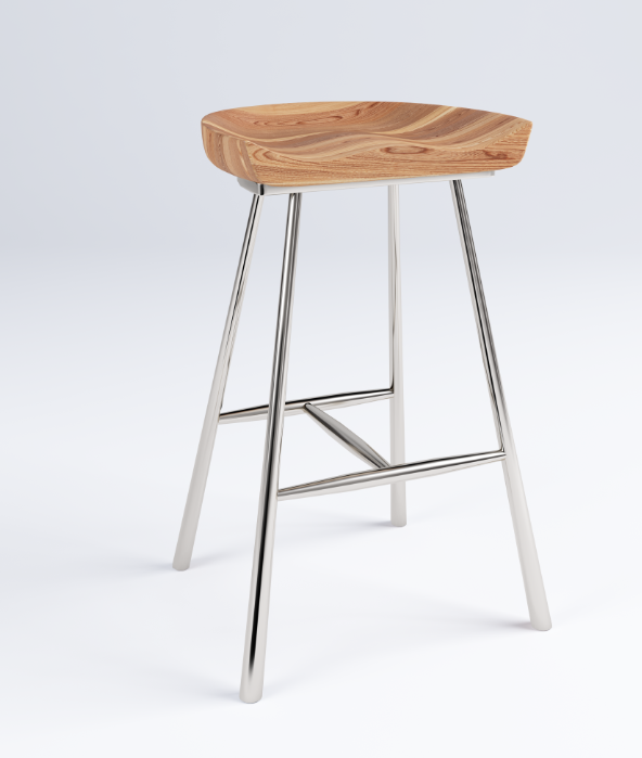 Furniture Model, Wood Stool