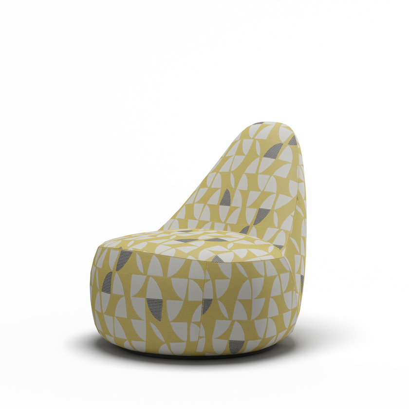 Furniture Model, Patterned Lounge Seat