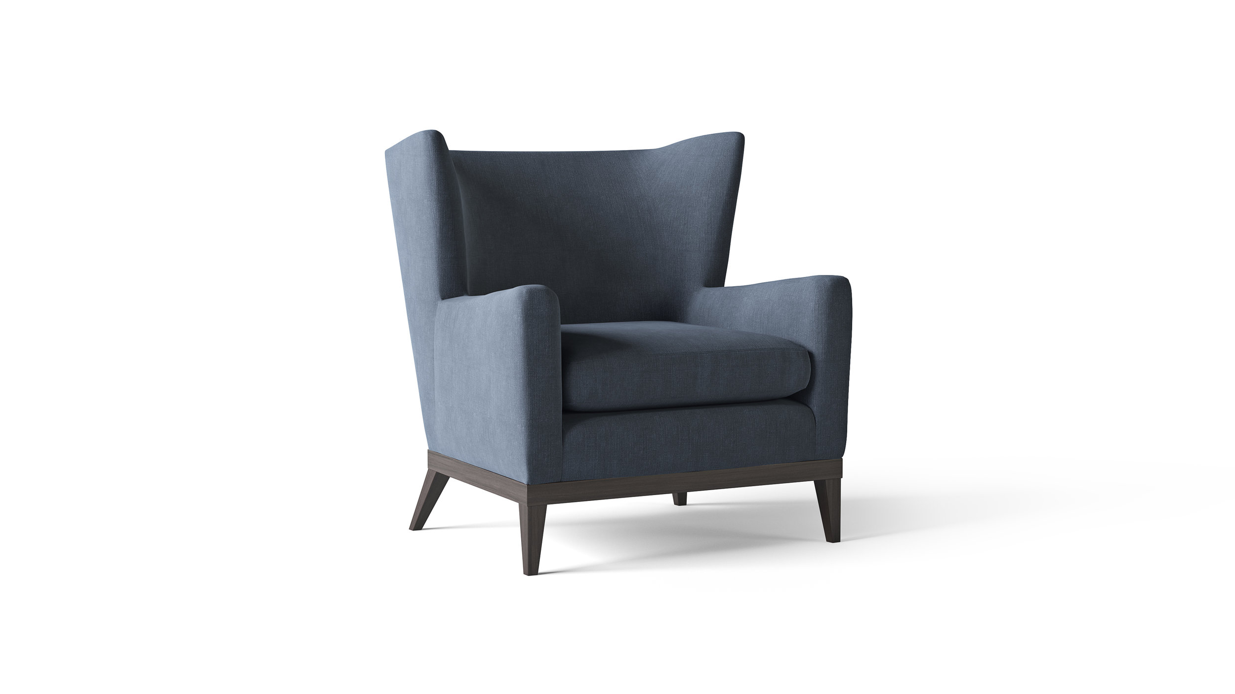 Furniture Model, Mid-Century Style Wing-Back Chair