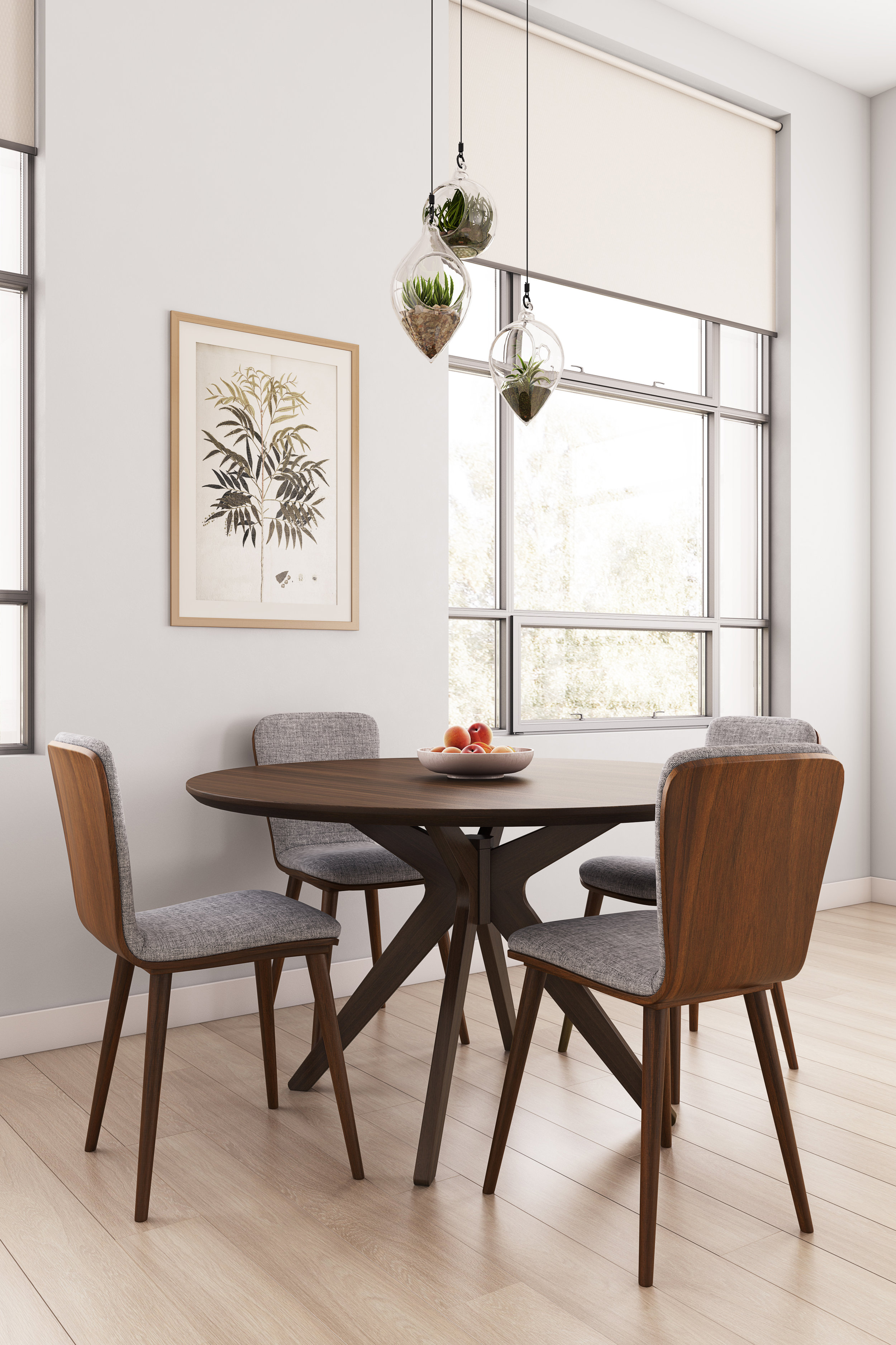 Complex Lifestyle Perspective, Mid-Century Style Dining Room