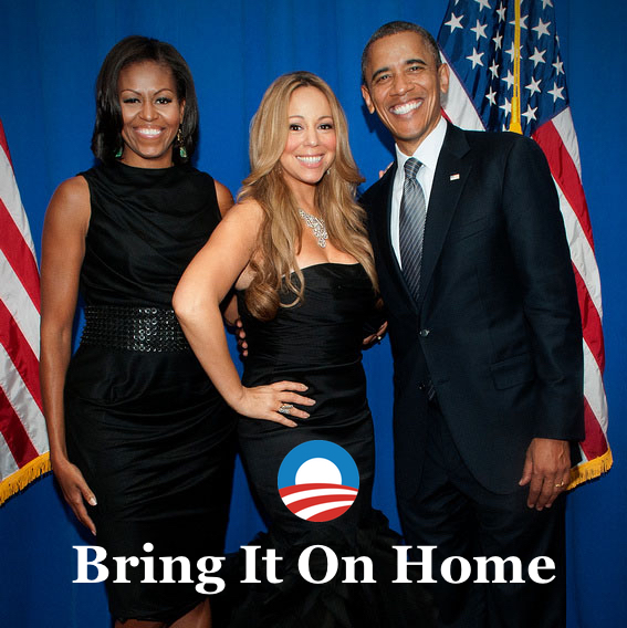 A song I wrote especially for the event - - Mariah Carey