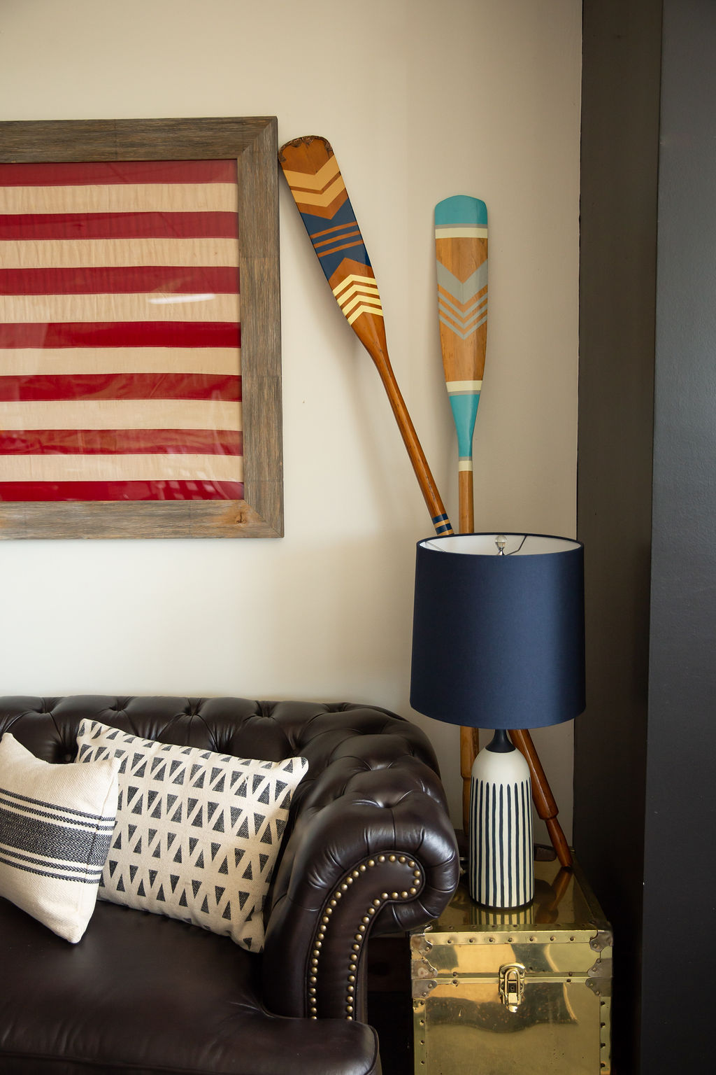 How perfect are these oars? They're vintage, but were painted to freshen their look.