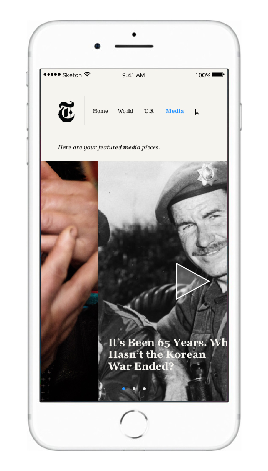This features a daily photojournalism story, a video story, and a VR story. This successfully incorporates the variety of ways that NYT provides the news.