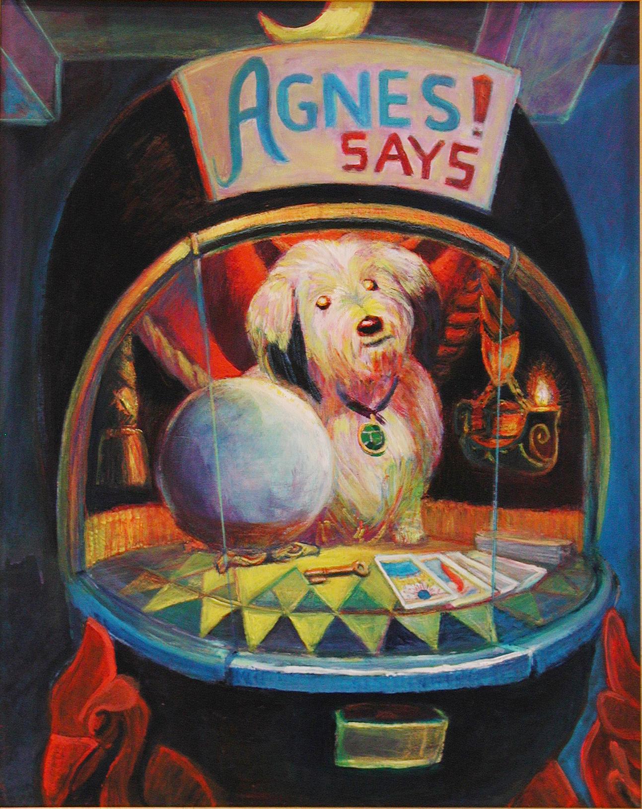 """Agnes Says / 40"""" x 30"""" acrylic on canvas"""