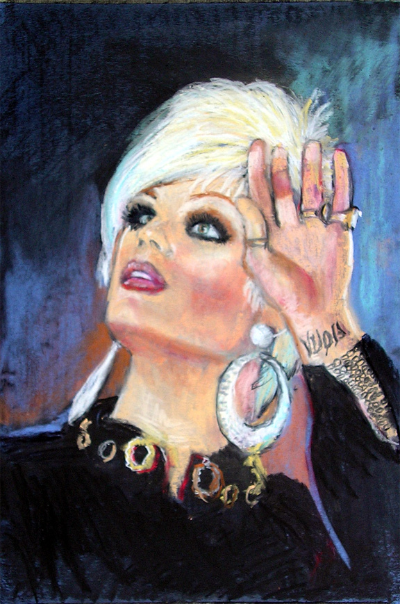 "Morgan McMichaels / pastel on paper 14"" x 11"""