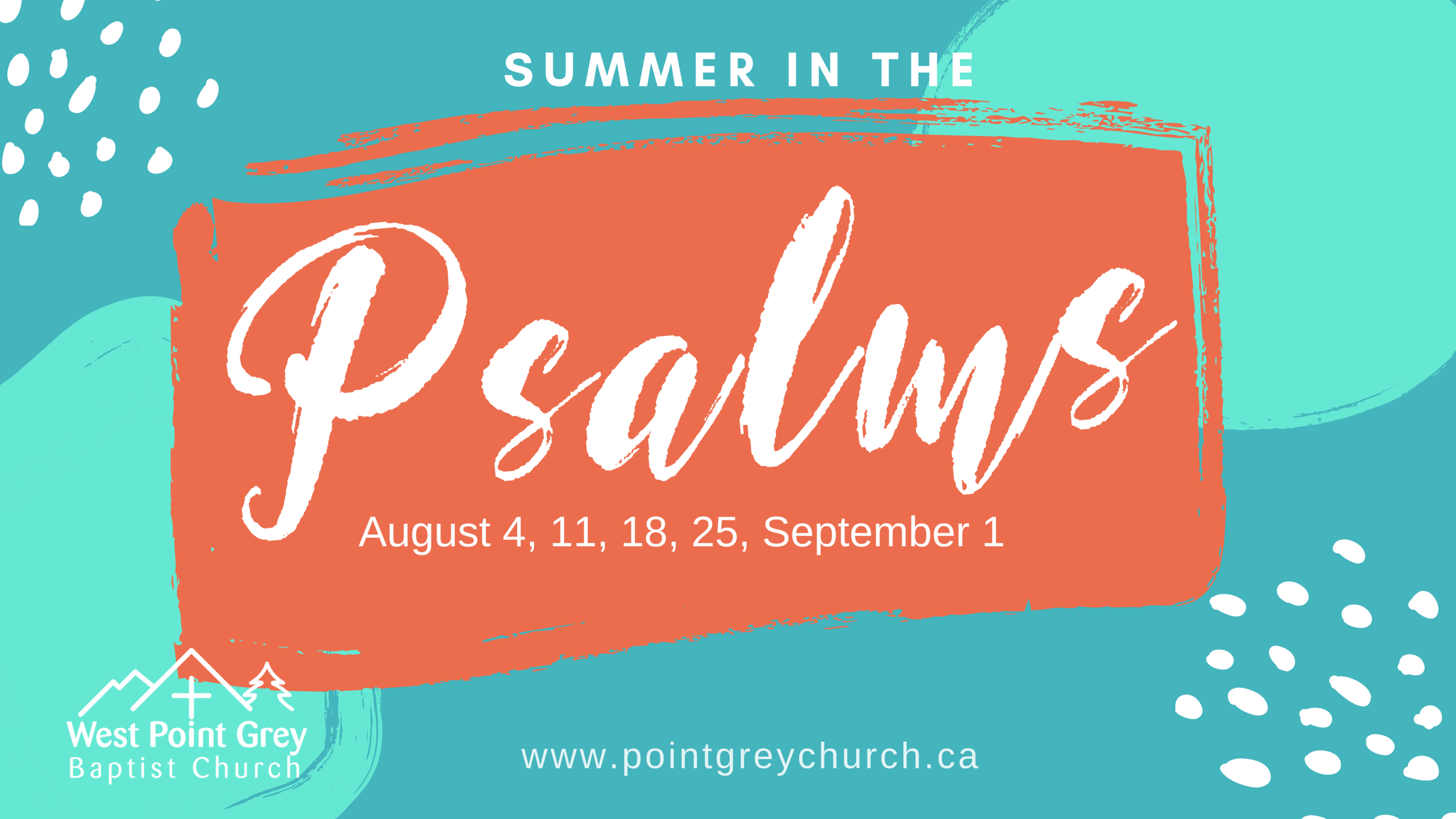 Summer in the Psalms - Summer 2019