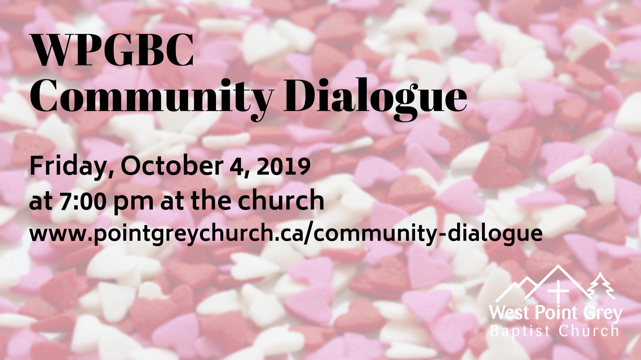 Community Dialogue - WPGBC