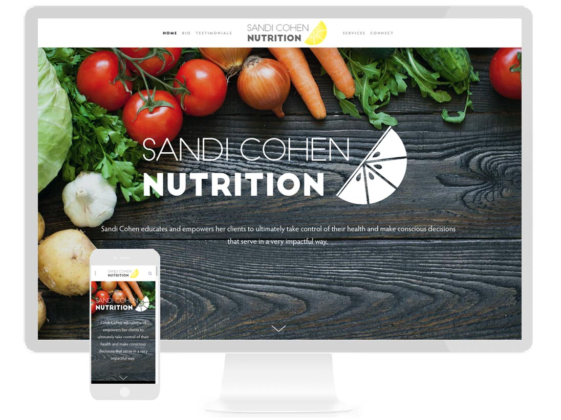 SANDI COHEN NUTRITION Dietary and lifestyle modification and counseling from nutrition consultant - design by Sterling Visuals, development by Squarespace