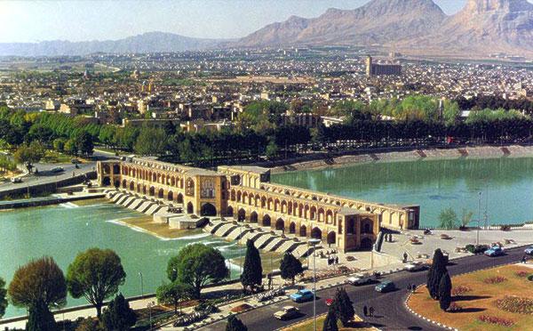 Vintage photo of Isfahan, Iran.