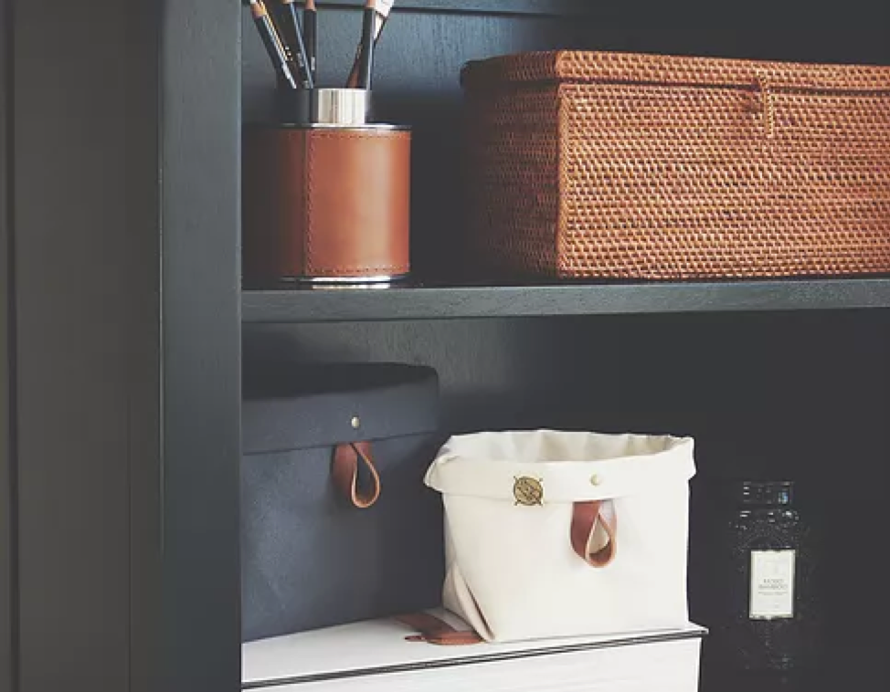 Use your Binnys to store your smaller items, leaving your bookshelf clutter free and a showcase for your decor you want highlighted.